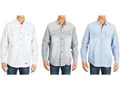 Nextex Men's Denim 2Pkt Button Down Shirt 3Pk