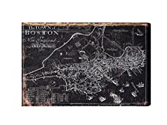 Town of Boston Map 1722 (Mulitple Sizes)