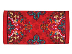 Marrakech Towel Damask, Red