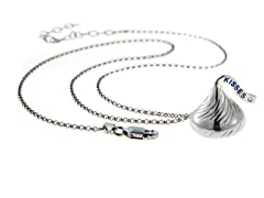 Sterling Silver Hershey Kiss, 0.01ct
