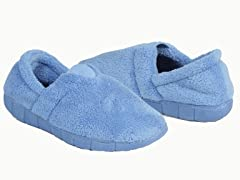 Flower Fairisle Fleece Espadrille Slipper,Blue