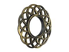 Kole Imports Gold Circle Wall Mirror