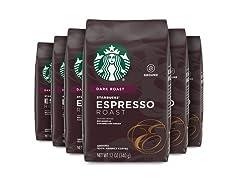 Starbucks Ground Coffee, 6 Pack