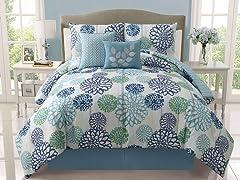 Cameron Reversible 5pc Comforter Set - King