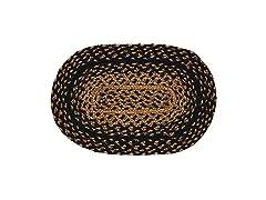 IHF Rugs Ebony 10x15 Braided Rug Swatch