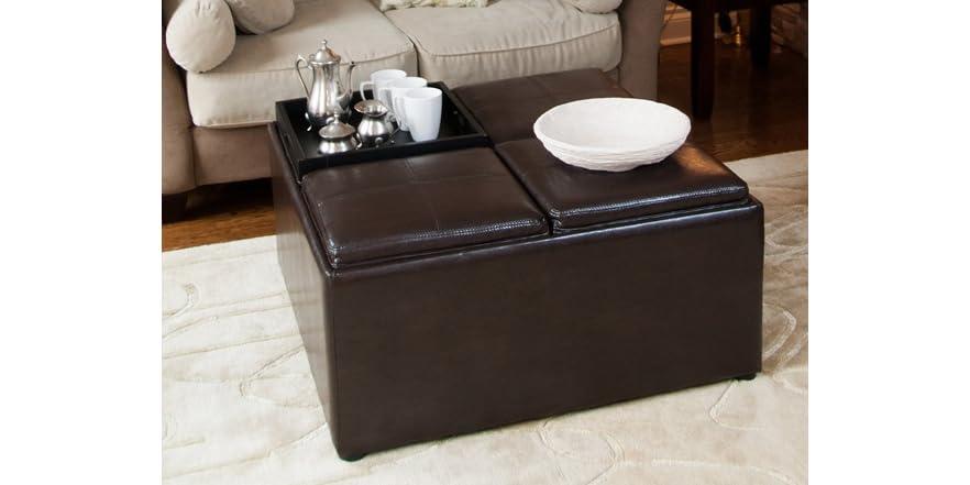 Avalon Coffee Table Storage Ottoman