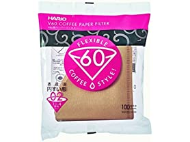 Hario V60 Paper Coffee Filters - 100 Pack, Sz 2