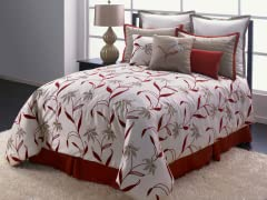 Tiger Lilies 7Pc Bedding Set - Qn or Kg