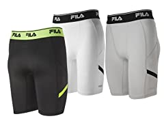 FILA Men's Endurance Compression Short, XXL