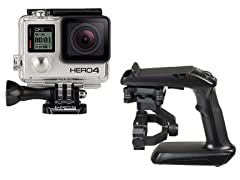 GoPro HERO4 Black Camera & Yuneec Steady Grip