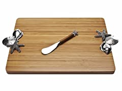 Thirstystone Sea Shells Bamboo Board w/Spreader