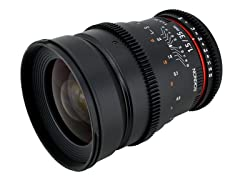 Rokinon 35mm T1.5 Cine Wide Angle Lens for Canon