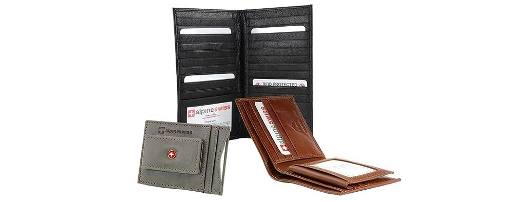Alpine Swiss Leather Wallets