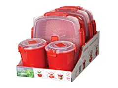Sistema Microwave 5pc Starter Pack - Red
