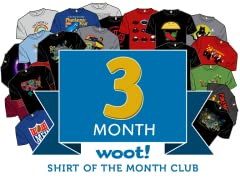 Woot Shirt Of The Month Club - 3 Month