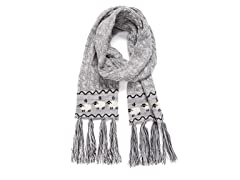 MUK LUKS Womens Traditional Tassel Scarf
