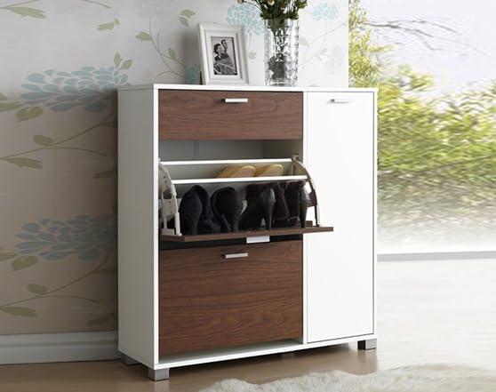 Chicago White Walnut Shoe Storage Cabinet