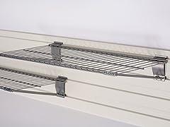 Flow Wall Bracket Shelf 2-Pack, Silver