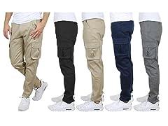 Mens Asst Flex Stretch Cargo Pants 2PK