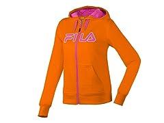 Fila Performance Hoody - Orange/Pink