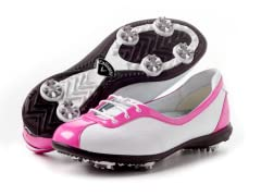 Women's Half Lace Golf Shoes, Fuchsia