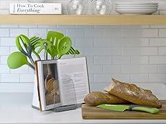 Crock-Book Holder White/Gray