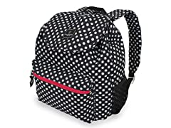 Large Polka-Dot Black Backpack