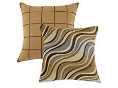 Theodore Camel 17x17 Pillow-Set of 2