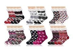 Nextex Women's Assorted Sherpa Socks 3P