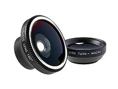 Smartphone LensKit w/ 3 Lens + Microfiber Cloth - 3 Pack