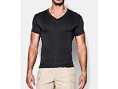 UA Tac HeatGear Compression V-Neck Shirt