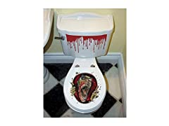 Halloween Zombie Toilet Decoration