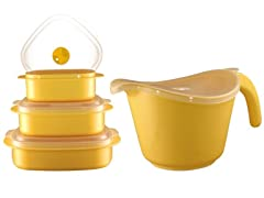Batter Bowl, Lid & 6-Piece Set- 4 Colors