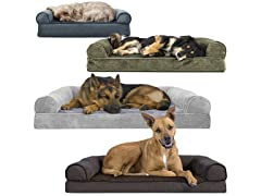 FurHaven Orthopedic Sofa Pet Bed for Dogs and Cats