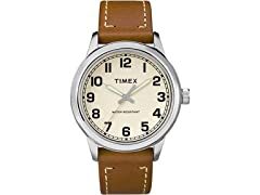 Timex Mens New England Leather Watch