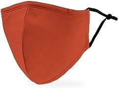 Rustic Orange Adult Size Face Mask