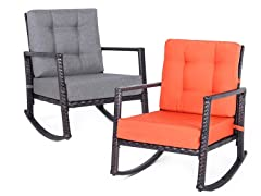 Patio Rattan Rocking Chair, Your Choice
