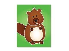 "11"" x 14"" Beaver Print"