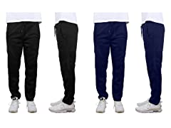 Fleece Cargo Sweatpants W Open Bottom 2P