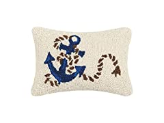 Anchor and Rope Hook, 8X12 Throw Pillow