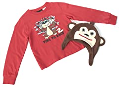 Boys Monkey Hat & Tee