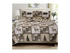 Great Bay Home 3 Piece Lodge Quilt Set