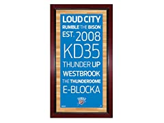 "Oklahoma City Thunder 16"" x 32"" Sign"
