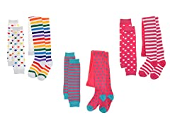 3-Pr Girls Winter Tights-Leg/Arm Warmer Sets