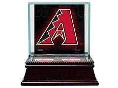 Glass Baseball Case w/ Team Logo
