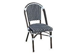 French Bistro Chair - Black/White
