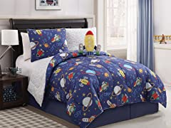 Reversible Bedding Set (Twin or Full) Out Of This World