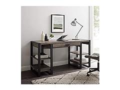 Industrial Wood Computer Desk