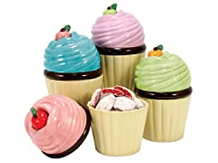 "Cupcake Jars 5"" Tall - Set of 4"