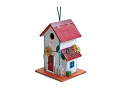 Bo-Toys Hand-Painted Wooden Birdhouse